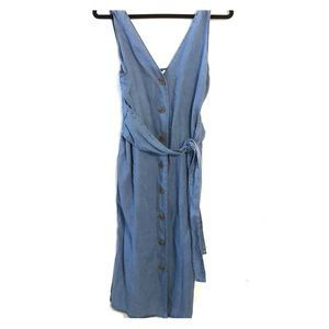 Fashion Nova chambray midi dress large